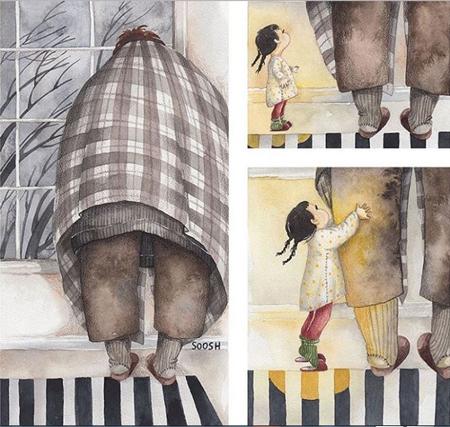 عکس های زیبا از پدر و دختر, تصاویر عاشقانه پدر و دختر