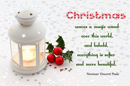 کارت پستال کریسمس, تبریک کریسمس
