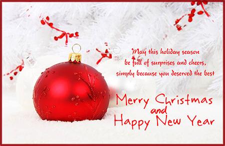 تبریک کریسمس, کارت تبریک کریسمس