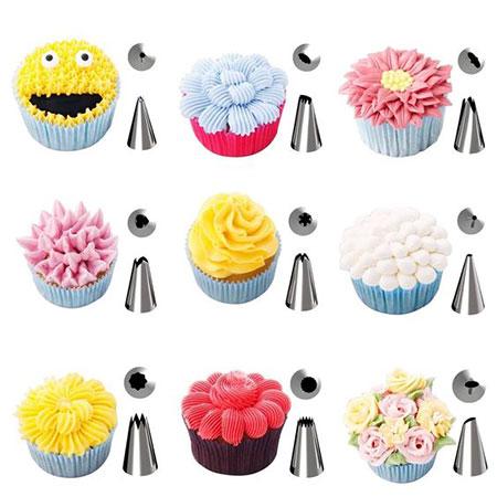 تزیین کیک های ساده, آشنایی با انواع قیف