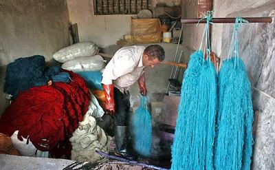 رنگرزی سنتی, کارگاه رنگرزی