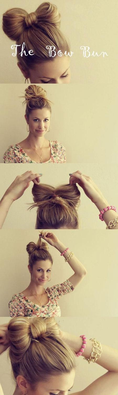 آموزش شینیون مو ، آموزش آرایش مو در خانه