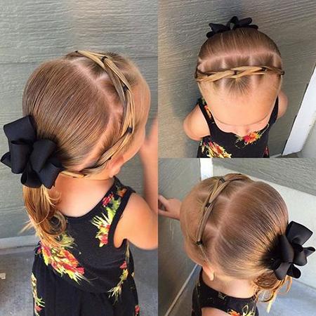 مدل بستن موی دخترانه کودک ,دیزاین موی ساده