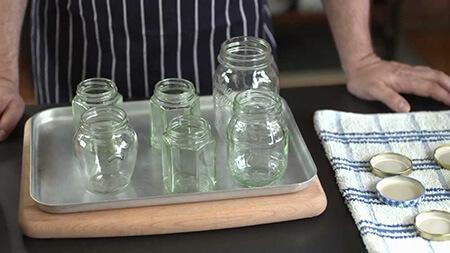 روش های استریل کردن شیشه های کنسرو, طرز استریل کردن شیشه برای کنسرو