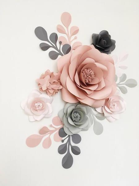 ایده هایی برای تزیین دیوار با گل کاغذی, مدل های تزیین دیوار با گل های کاغذی