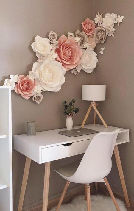 روش های تزیین دیوار با گل های کاغذی, تزیین کردن دیوار با گل های کاغذی