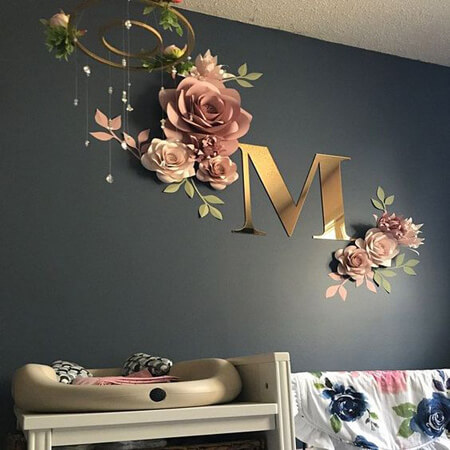 مدل های تزیین دیوار با گل های کاغذی, روش های تزیین دیوار با گل های کاغذی