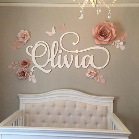 تزیین کردن دیوار با گل های کاغذی, تزیین دیوار اتاق با گل های کاغذی