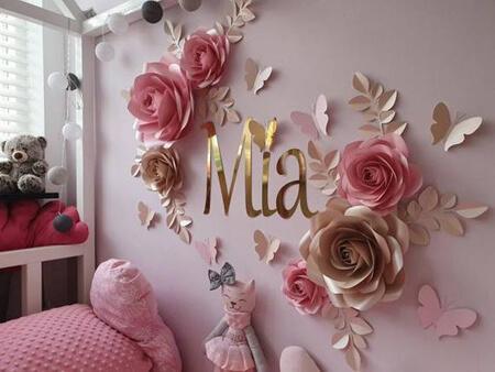 تزیین دیوار اتاق با گل های کاغذی, تزیین کردن دیوار با گل های کاغذی
