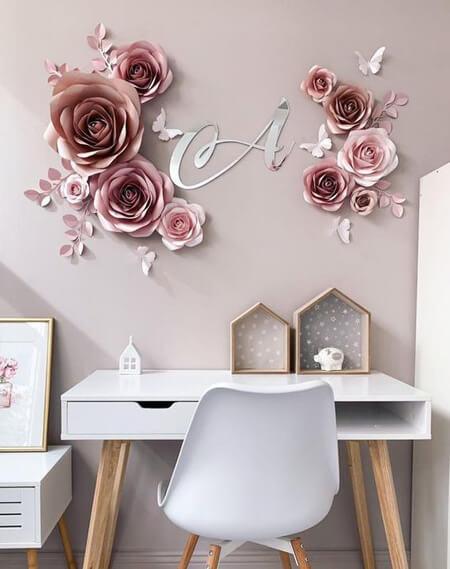 مدل های تزیین دیوار با گل های کاغذی, گل های کاغذی برای دیوار
