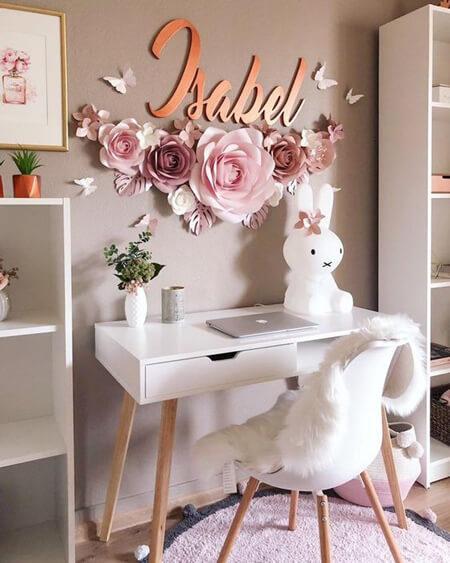 تزیین دیوار با گل های کاغذی, ایده هایی برای تزیین دیوار با گل کاغذی