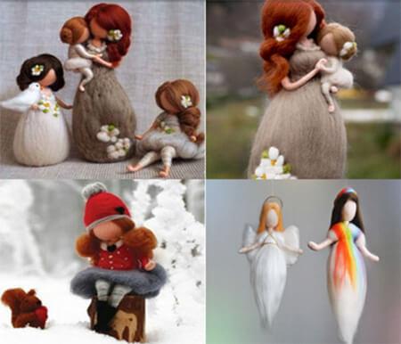 ایده هایی برای عروسک کچه ای, مدل های عروسک کچه ای