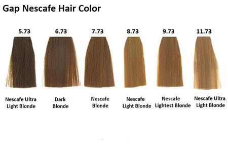 رنگ موی نسکافه ای, ترکیب رنگ موی نسکافه ای, ترکیب های رنگ موی نسکافه ای