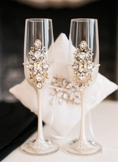 تزیینات عقد و عروسی,ایده هایی برای تزیین جام عسل