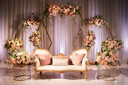 تزیین برای عروسی,تزیین دیوار اتاق عقد در خانه