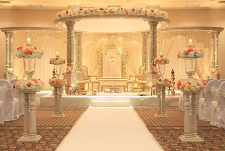 عکس استیج عروسی,تزیین دیوار اتاق عقد