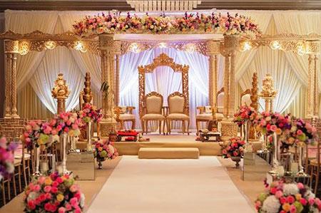تزیین دیوار اتاق عقد با بادکنک,تزیین عروسی