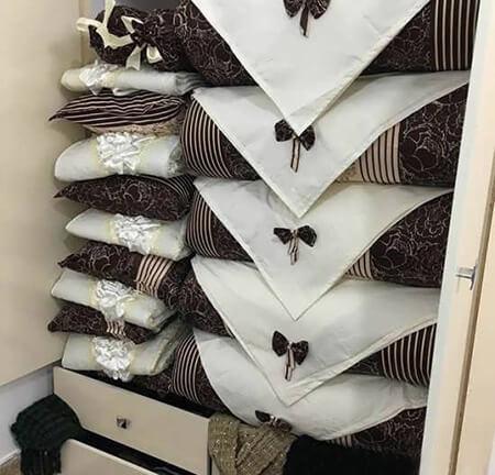 نحوه ی چیدمان پتو برای عروس, طرز چیدن پتو عروس, تزیین رختخواب عروس