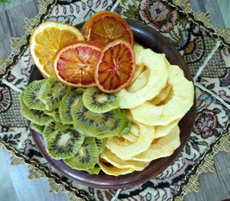 خشک کردن میوه,خشک کردن کیوی