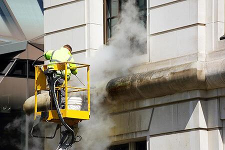 نکاتی برای تمیز کردن نمای ساختمان, روش تمیز کردن نمای ساختمان