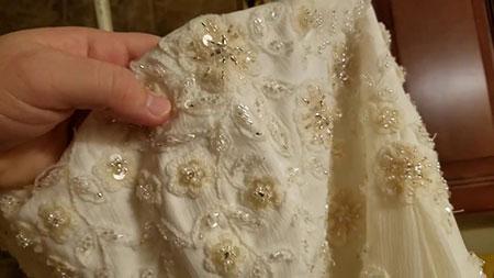 نکته هایی برای شستشوی لباس عروس, شستشوی لباس عروس در خانه