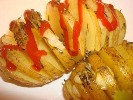 سیب زمینی در ماهیتابه رژیمی,طرز تهیه سیب زمینی تنوری بدون فر