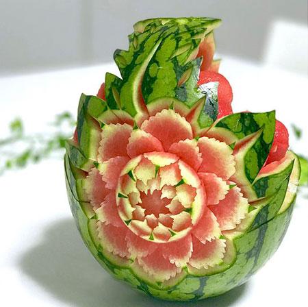طراحی هندوانه, نقاشی روی هندوانه