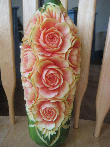 مدل تزئین هندوانه, روش تزئین هندوانه