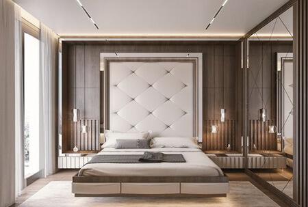 دکوراسیون دیوار پشت تخت, طراحی و دکوراسیون دیوار پشت تخت, نحوه ی طراحی دیوار پشت تخت