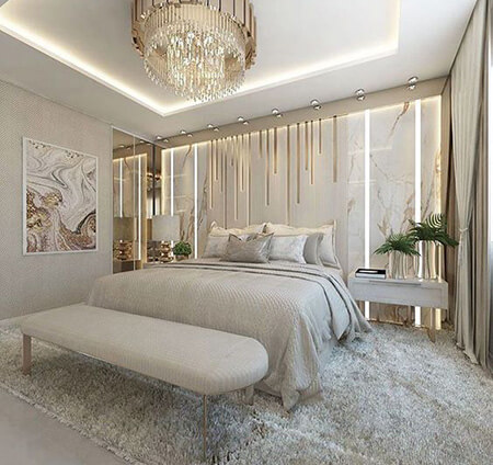 طراحی و دکوراسیون دیوار پشت تخت,تزیین دیوار پشت تخت,ایده هایی برای تزیین دیوار پشت تخت