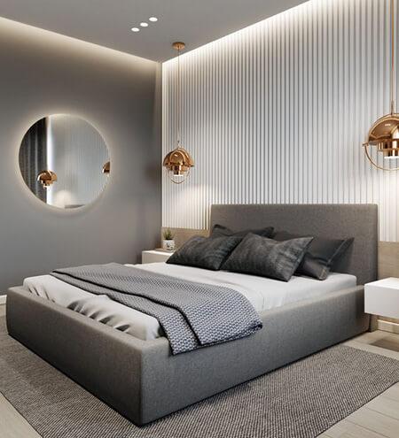 تزیین دیوار پشت تخت,طراحی و دکوراسیون دیوار پشت تخت,نحوه ی تزیین دیوار پشت تخت