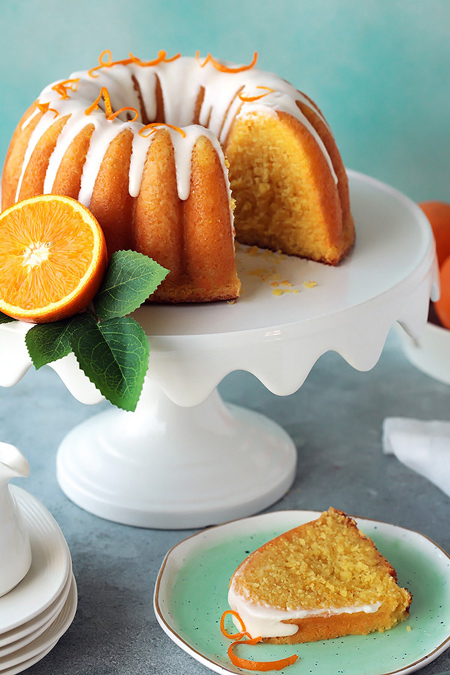 طرز پخت کیک پرتقالی با آرد ذرت, روش های پخت کیک با آرد ذرت