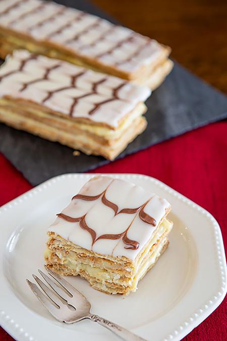 آموزش تهیه ی شیرینی ناپلئونی,طرز درست کردن شیرینی ناپلئونی