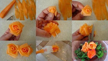 طرز تهیه مربا به شکل گل,پخت مربا هویج به شکل گل