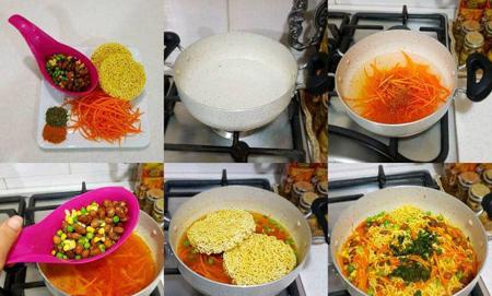 نودل سبزیجات,طرز تهیه نودل سبزیجات