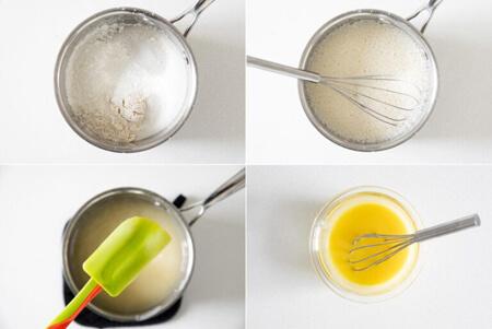 مراحل تهیه ی پای مرنگ لیمو, مراحل پخت پای مرنگ لیمو, طرز تهیه ی شیرینی پای مرنگ لیمو