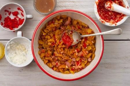 نحوه ی پخت غذاهای ترکیه ای,غذا با پلانتین سرخ شده,مواد لازم برای تهیه ی پلانتین و بیکن