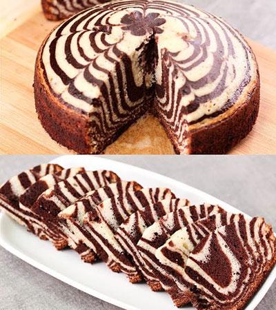 درست کردن کیک زبرا, نحوه ی درست کردن کیک زبرا