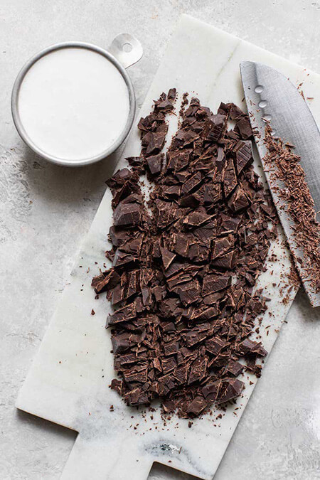 گاناش شکلاتی,طرز تهیه گاناش شکلاتی