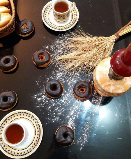 پیراشکی شکلاتی خانگی,دستور دونات شکلاتی