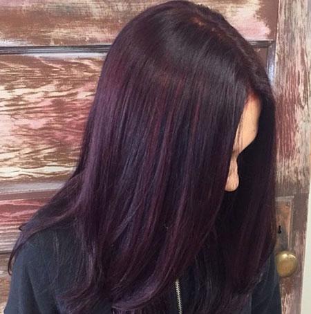 رنگ موی بادمجانی,رنگ بادمجانی تیره,رنگ بادمجانی روشن