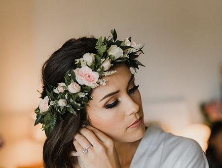 مدل حلقه های گل نامزدی, مدل تاج و حلقه گل نامزدی برای عروس