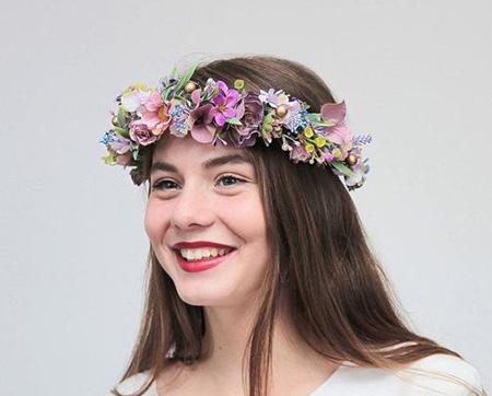 مدل تاج گل عروس, تاج عروس با گل