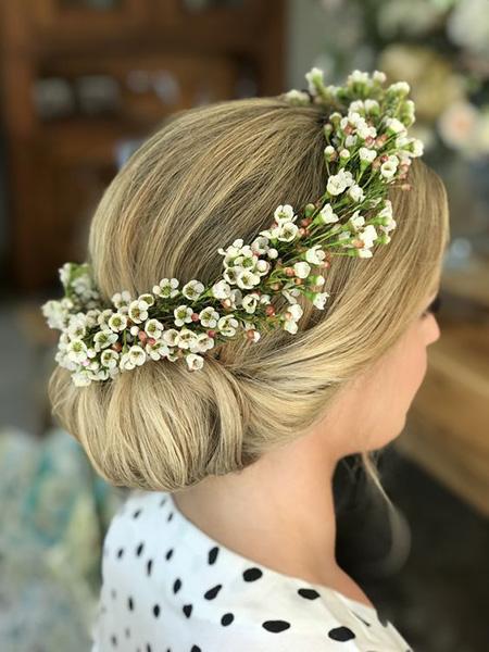 شیک ترین حلقه های سر عروس, تاج گل برای حنابندان