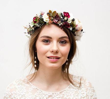 تاج گل عروس برای نامزدی, مدل حلقه های گل نامزدی