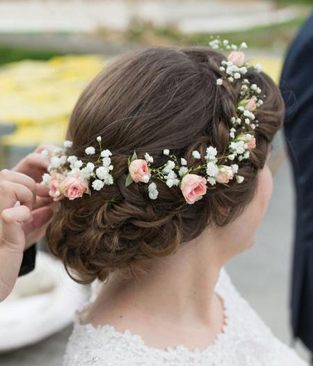 مدل تاج و حلقه گل نامزدی برای عروس,تاج گل عروس