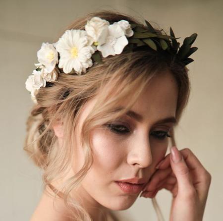 تاج گل برای حنابندان, تاج گل عروس برای نامزدی