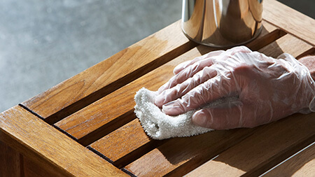 پاک کردن لکه ی لاک, تمیز کردن لکه ی لاک, تمیز کردن لاک از روی سطوح مختلف