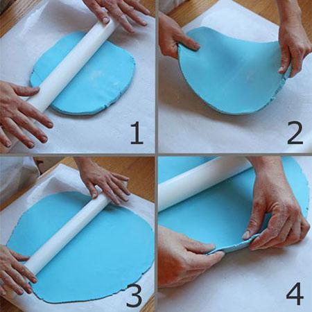 نحوه ی کار با خمیر فوندانت, آموزش کار با خمیر فوندانت