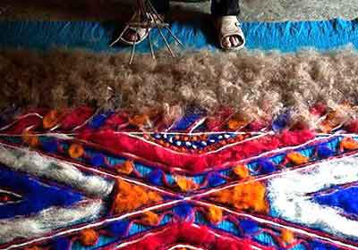 دیرینه ترین هنرهای دستی چهارمحال و بختیاری , پشم گوسفندان